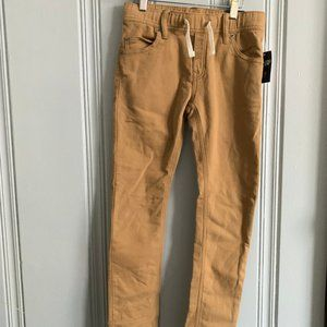 Boys Gap Fantastiflex Mustard Pull on Pants size M